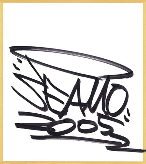 SEAMO直筆サイン入り色紙