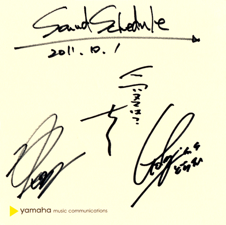 Sound Schedule (サウンド スケジュール)直筆サイン入り色紙