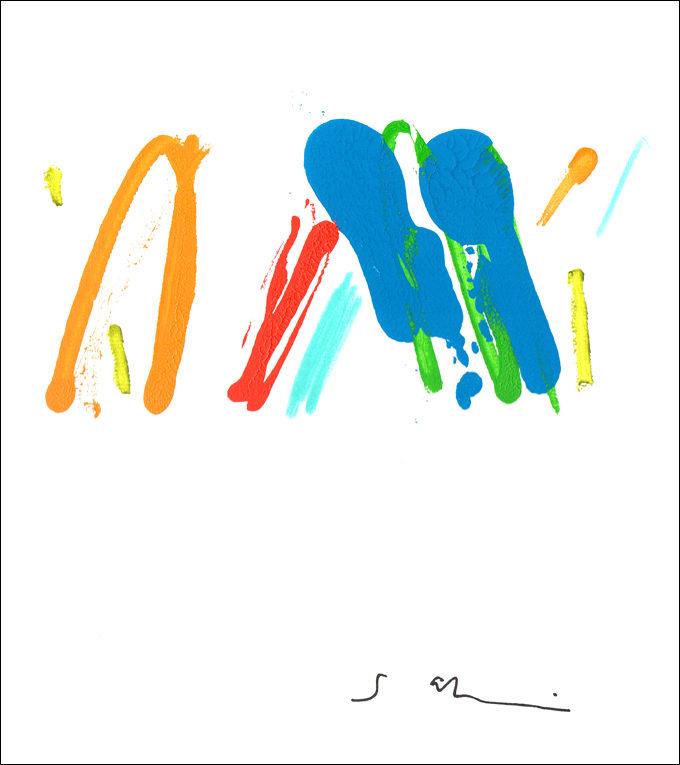 田中紗樹 (たなかさき)色紙作品サイン入り@museum bar②