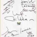 Mr.Children (ミスターチルドレン)直筆サイン入り色紙(北海道のラジオ番組『 船守さちこのスーパーランキング』の当選品)
