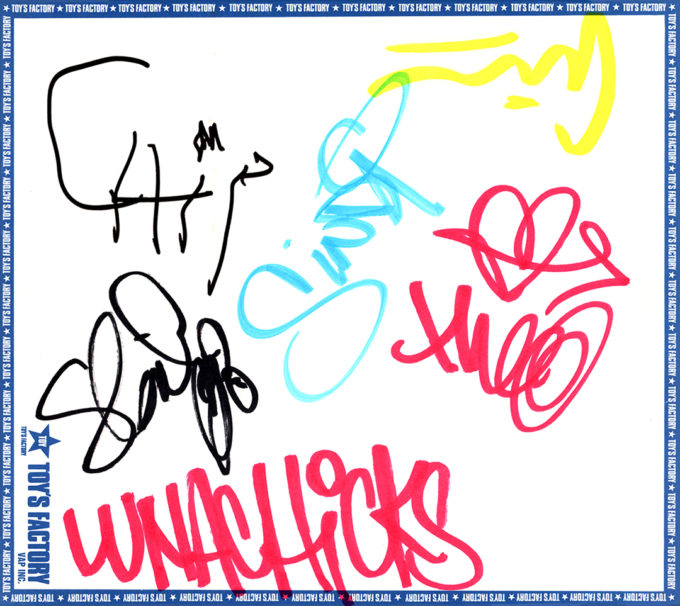 LUNACHICKS (ルナチックス) 直筆サイン入り色紙 (TOY'S FACTORY公式色紙)