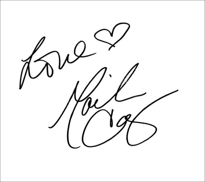 MARIAH CAREY (マライア・キャリー)印刷サイン入り色紙